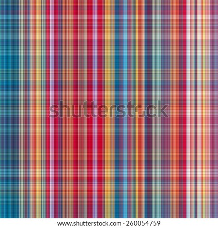 plaid Cotton fabric of colorful background and abstract texture - stock photo