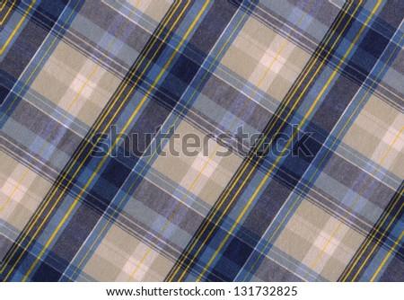 plaid fabric - stock photo