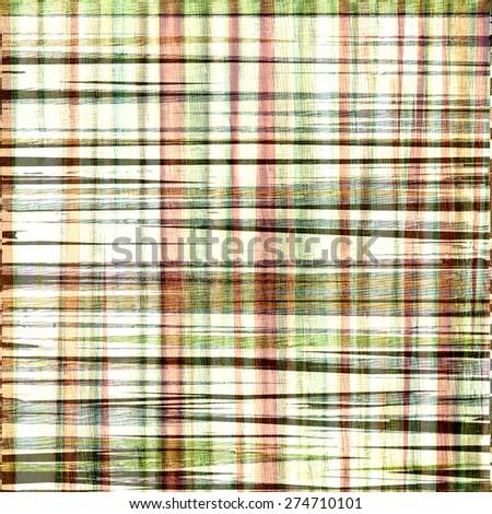 plaid grunge abstract background design on wood grain texture - stock photo