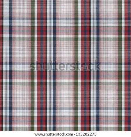 Plaid pattern - stock photo