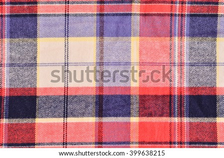 plaid shirt texture - stock photo