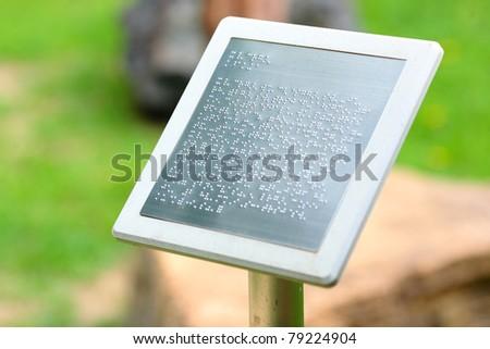 Plain Braille Notice - stock photo