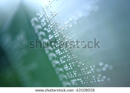 plain braille page abstract - stock photo