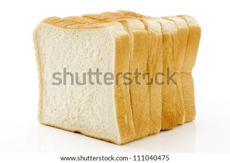 Plain bread on white background - stock photo