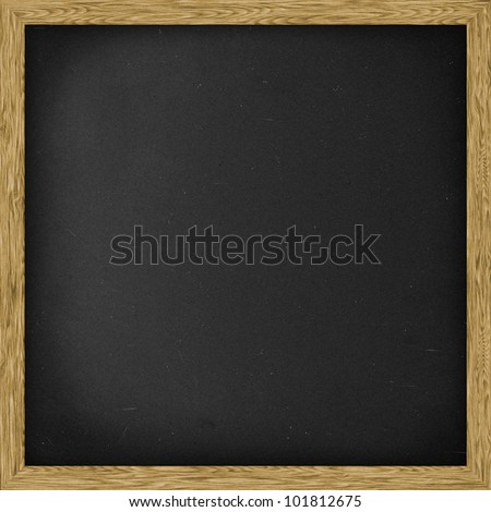 Plain Chalkboard blackboard, Square. - stock photo