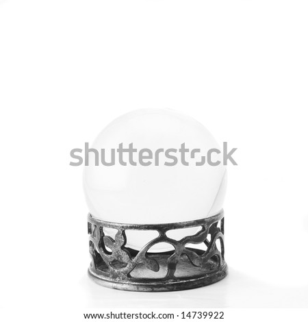 Plain crystal ball on a stand