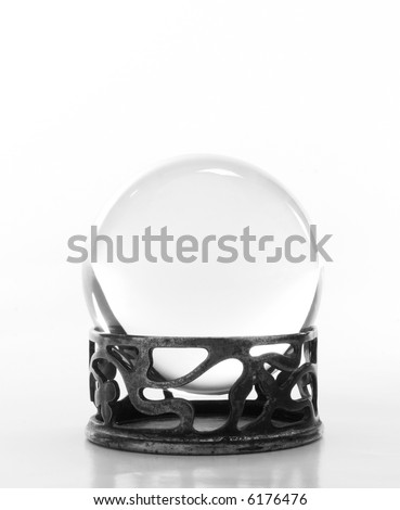 Plain crystal ball on stand