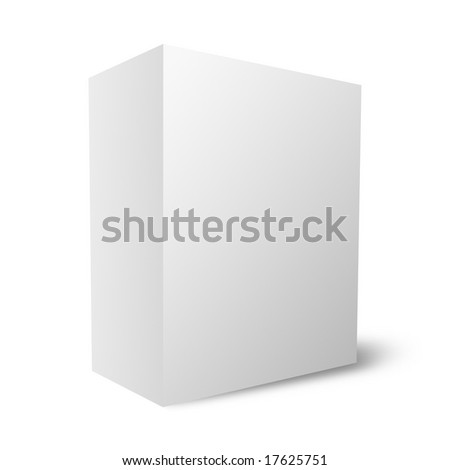 Plain empty packaging box - stock photo