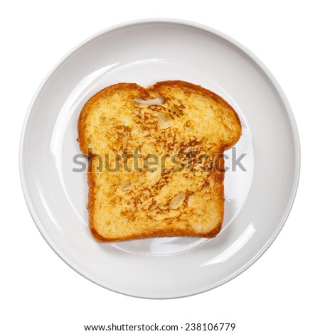Plain French Toast. Isolated on white. Selective focus. - stock photo