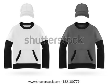 Plain long sleeve two color shirt for kids.