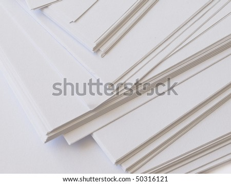 plain papers - stock photo