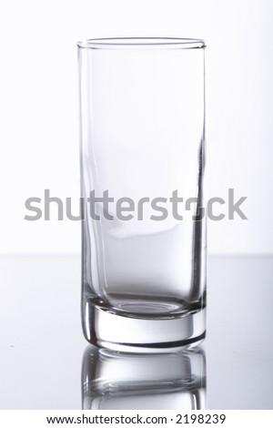 plain shot glass - stock photo