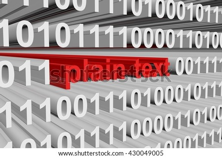 plain text to a binary code 3D illustration