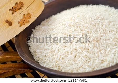 Plain White Rice - stock photo