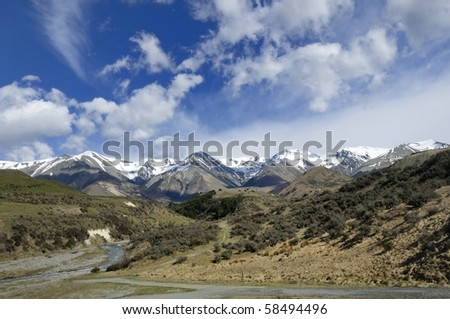 Plains and Peaks of the Arthur's Pass National Park, New Zealand