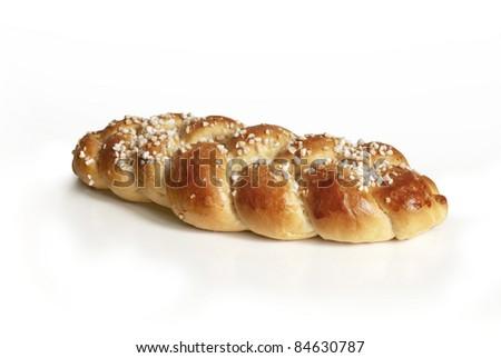 Plaited Yeast Cake - stock photo