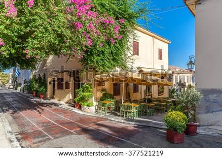 Plaka area near Acropolis, Athens, Greece - stock photo