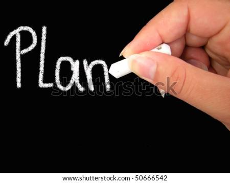 plan - stock photo