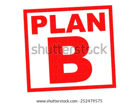PLAN B red Rubber Stamp over a white background. - stock photo