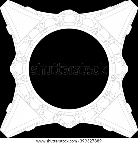 Plan classical Ionic capitals and currencies Ionica - stock photo