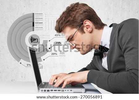 Plan. Concept of a great idea of a businessman - stock photo