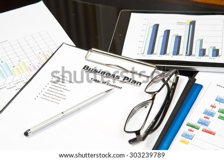 Plan for a new business - stock photo