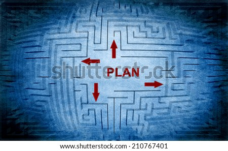 Plan maze concept - stock photo