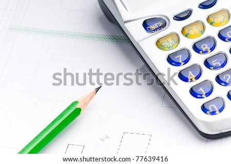 plan to construct an industrie project - stock photo
