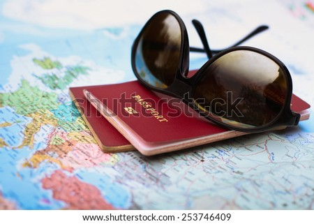 plan your travel - stock photo