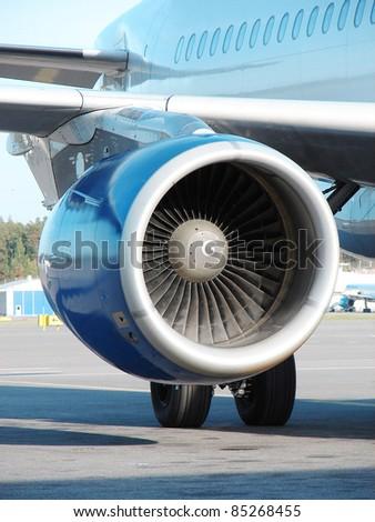 Plane Engine - stock photo