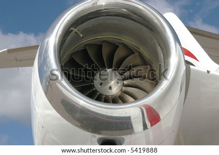 plane engine detail