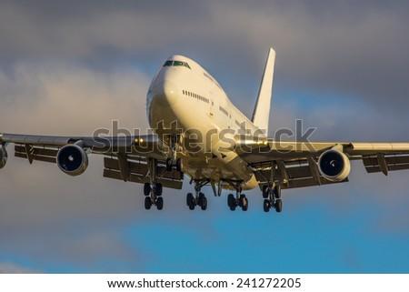 Plane flying - stock photo