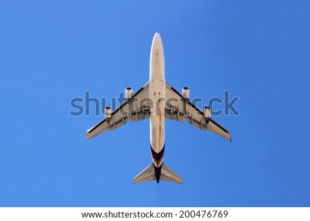 Plane from below - stock photo