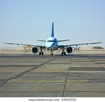 plane in the airport - stock photo