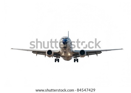 Plane isolated on white - stock photo