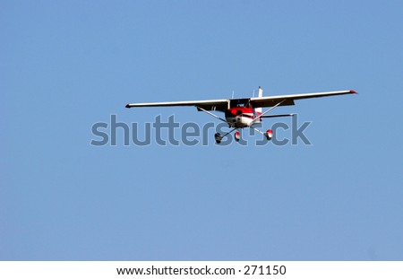 Plane landing - stock photo