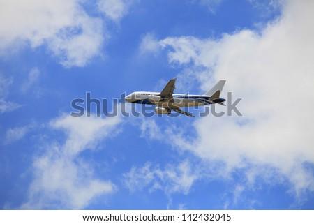 Plane of the sky - stock photo