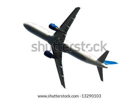 Plane on a clean white background - stock photo