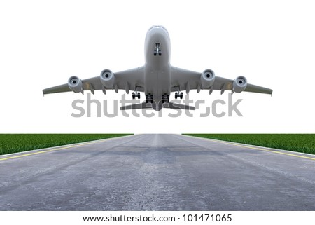 Plane on the start - stock photo