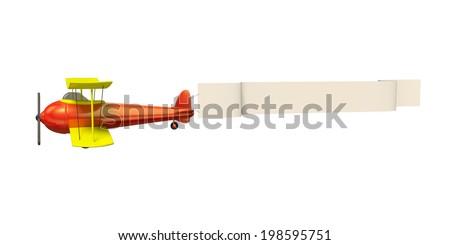 Plane pulling blank banner - stock photo