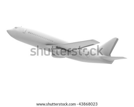 Plane takes off - stock photo