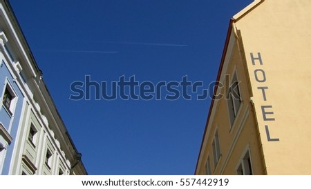 Planes over the hotel