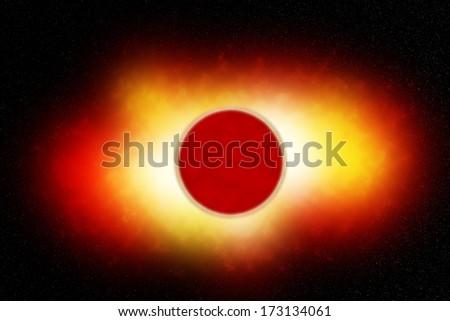 Planet Blast - stock photo