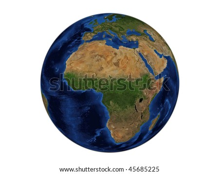 Planet Earth - Africa, Data Source: NASA - stock photo