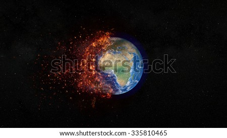 Planet Earth Apocalypse - Elements of this image furnished by NASA.