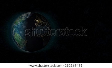 Planet Earth Background (Elements of this image furnished by NASA) - stock photo