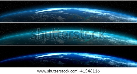 Planet Earth banners - stock photo