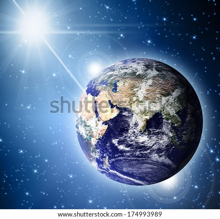 Planet earth. Best Concept of global business from concepts series.(Elements of this image furnished by NASA) - stock photo