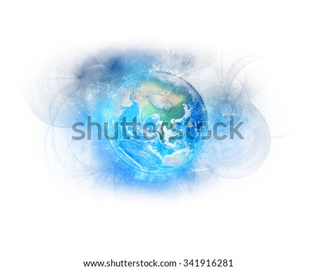 Planet Earth Bio-Energetic - Elements of this image furnished by NASA. - stock photo