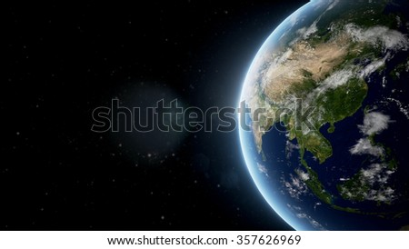 Planet Earth 3D Rendered Background (Elements of this image furnished by NASA)